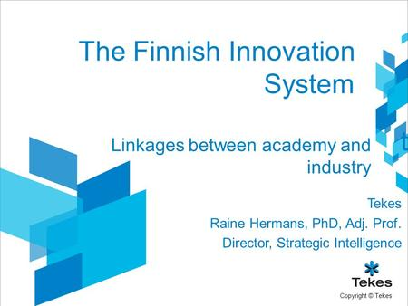 The Finnish Innovation System
