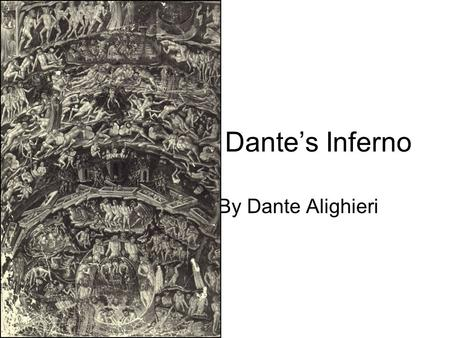 Dante's Inferno By Dante Alighieri. Dante Alighieri World's greatest poet of ideas Born in Florence, grew up in beginning of the Renaissance Exiled for.
