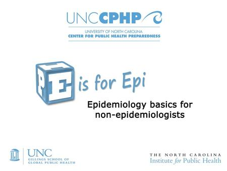 Epidemiology Partners and Resources Session 2, Part 2.