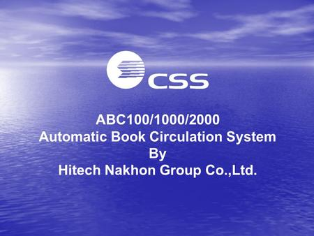 ABC100/1000/2000 Automatic Book Circulation System By Hitech Nakhon Group Co.,Ltd.