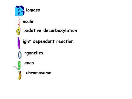 Iomass nsulin xidative decarboxylation ight dependent reaction rganelles enes chromosome.