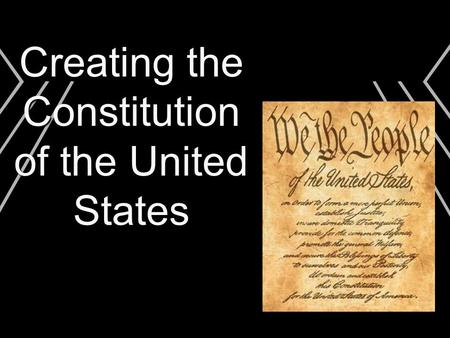 Creating the Constitution of the United States. Problems with the Articles of Confederation  Money Issues  Leadership Issues  Government Issues  Cooperation.