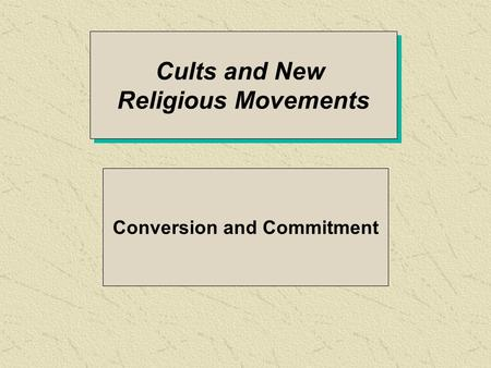 an analysis of brainwashing in new religious movements Sociologists david bromley and anson shupe initially defined the acm in 1981 as a collection of groups embracing brainwashing  some new religious movements.