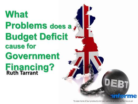 What Problems does a Budget Deficit cause for Government Financing? To see more of our products visit our website at www.anforme.co.uk Ruth Tarrant.