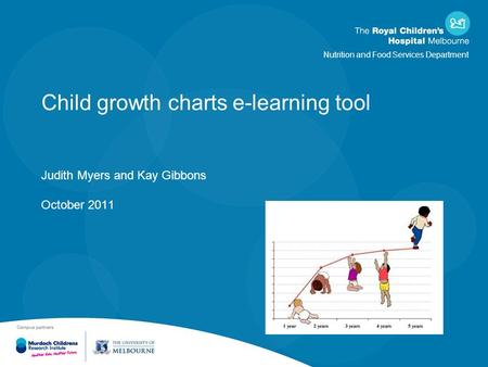 Nutrition and Food Services Department Child growth charts e-learning tool Judith Myers and Kay Gibbons October 2011.