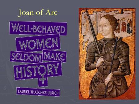Joan of Arc. 2 Sharing Epidemic Disease: the 'great dying' Historical Epidemiology The 'Little Ice Age', c. 1300 CE declining agricultural output widespread.