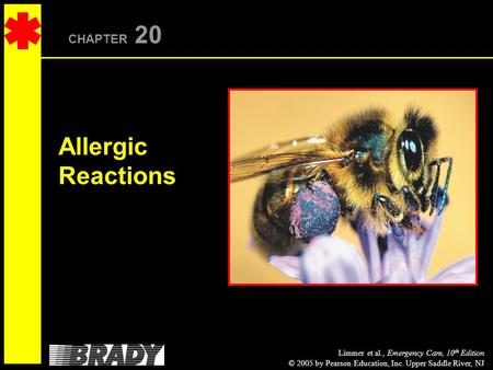 Limmer et al., Emergency Care, 10 th Edition © 2005 by Pearson Education, Inc. Upper Saddle River, NJ CHAPTER 20 Allergic Reactions.