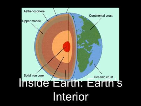 Inside Earth: Earth's Interior