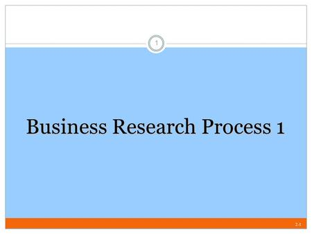 Business Research Process 1