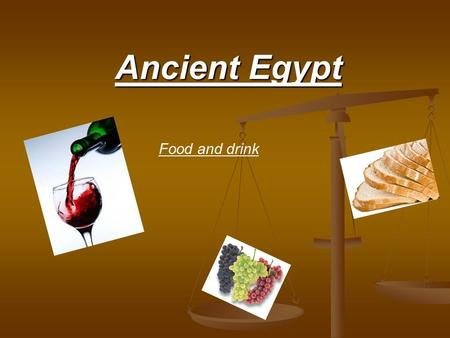 "Ancient Egypt Food and drink. Food Bread ""bread eaters"". Bread ""bread eaters"". Fish ducks, geese, desert hares, oryx (a type of large antelope) near the."