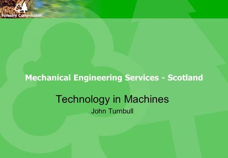 Mechanical Engineering Services - Scotland Technology in Machines John Turnbull.