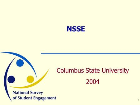 1 NSSE Columbus State University 2004. 2 Program Overview  What do you know about college student engagement?  Why is student engagement important?