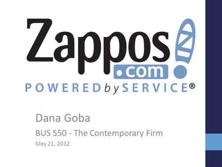 Dana Goba BUS 550 - The Contemporary Firm May 21, 2012.