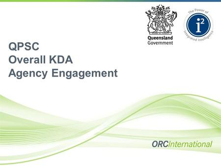 QPSC Overall KDA Agency Engagement. Contents  Introduction  What is Key Driver Analysis?  Methodology  Factor Analysis Solution  Results.