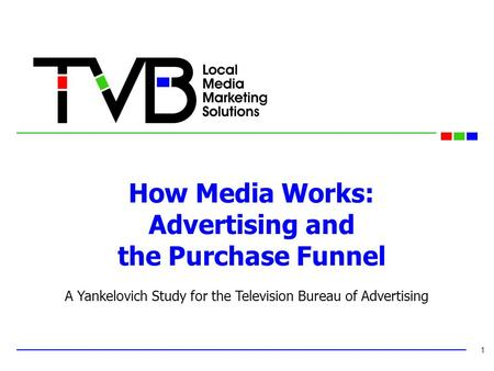 How Media Works: Advertising and the Purchase Funnel 1 A Yankelovich Study for the Television Bureau of Advertising.