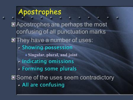 The 13 Apostrophe Rules. - ppt download