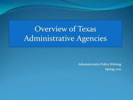 What Is the Function of Administrative Agencies?