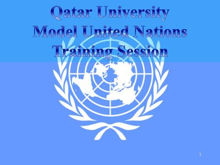 1. MODEL UNITED NATIONS RULES OF PROCEDURE THE FOLLOWING BRIEF OUTLINE WILL PROVIDE STUDENTS WITH AN UNDERSTANDING OF 'HOW A COMMITTEE SESSION OPERATES.'