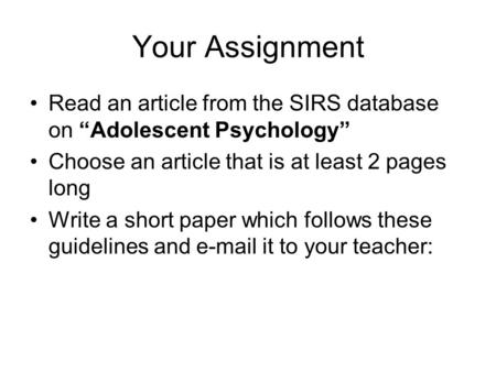 Write my developmental psychology paper
