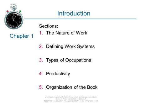 an introduction to the nature of work Introduction to human resource  describes the composition of the work force by job in terms of gender, race, and national  explain the purpose and nature of.