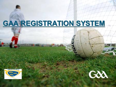 GAA REGISTRATION SYSTEM. © GAA 2 Presentation title in footer INTRODUCTION  New online registration system developed by Servasport and the I.T. committee.
