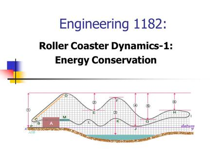 Roller Coaster Dynamics-1: Energy Conservation