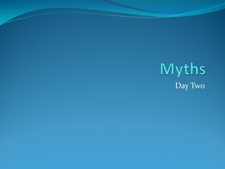 Day Two. Myth 5 – A Story of Hospitality 1. What order does Zeus give to mortals? He orders the people on earth to give food, drink, and shelter to any.
