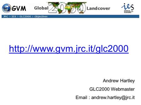 Product Availability via the GLC2000 Website Andrew Hartley GLC2000 Webmaster