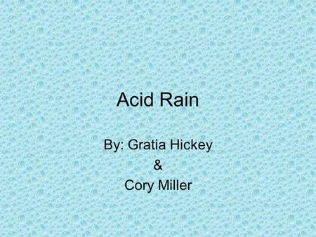 Literature review acid rain
