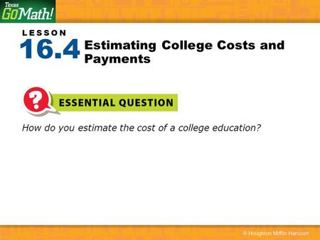 Estimating College Costs and Payments