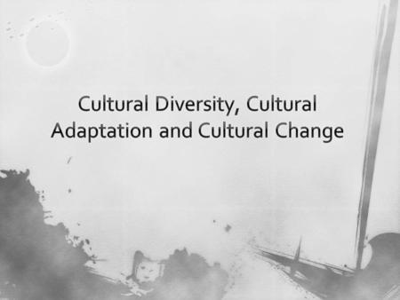 A.Culture - all of the shared products of human groups - - products people create 1. Material culture – physical objects that people create (cars, clothes,