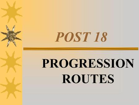 POST 18 PROGRESSION ROUTES. POST –18 PROGRESSION ROUTES  HIGHER EDUCATION – UK  HIGHER EDUCATION – EUROPE  HIGHER EDUCATION – PART-TIME  EMPLOYMENT.