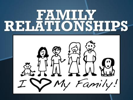 FAMILY RELATIONSHIPS. What Is A Relationship? An interaction between two or more people. Who Does A Family Relationship Involve? What Is A Relationship?