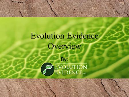 Evolution Evidence Overview By:. Historical Sciences – Reconstructing a Crime Discuss: When someone is accused of committing a crime, how are they shown.