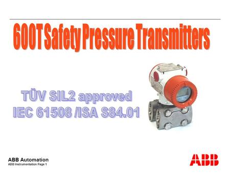 600T Safety Pressure Transmitters