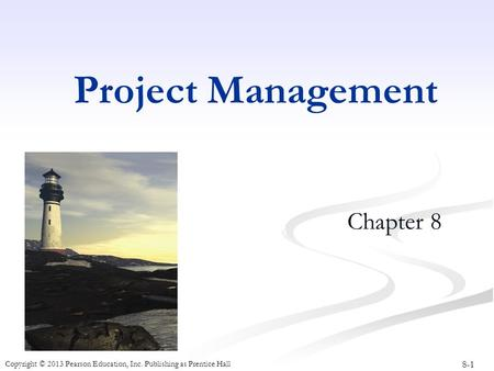 Project Management Chapter 8.