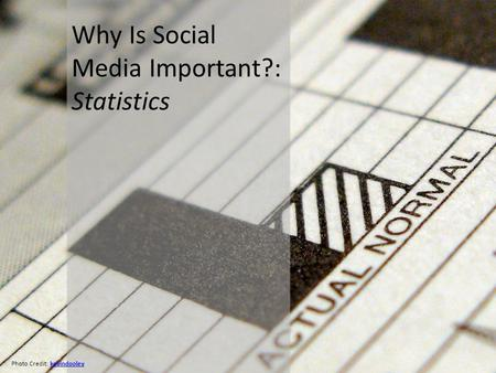 Why Is Social Media Important?: Statistics Photo Credit: kevindooleykevindooley.