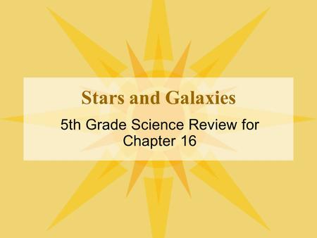 5th Grade Science Review for Chapter 16