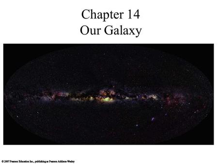 Chapter 14 Our Galaxy. What does our galaxy look like?