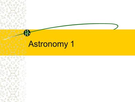 Astronomy 1. Terms Astronomy – The study of the universe Universe – Everything known that exists, including space, time and matter Solar System – the.