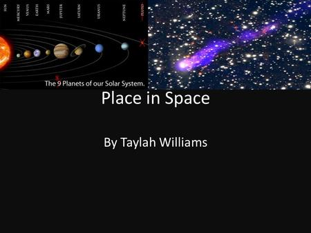 Place in Space By Taylah Williams. What is a light year? Q1:The fastest thing that we know of is light which travels at a speed of 186,000 miles or 300,000.