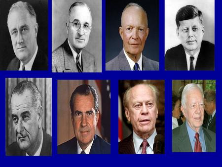 The 8 occupants of the Oval Office between 1941 and 1980. Who were they and which party did they represent?