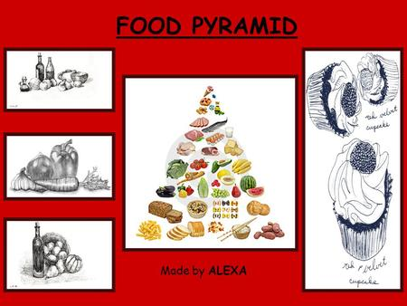FOOD PYRAMID Made by ALEXA. THE OLD FOOD PYRAMID.