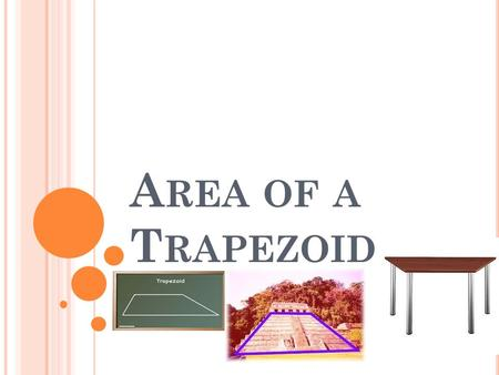 A REA OF A T RAPEZOID. B Y D EFINITION Trapezoid – a quadrilateral (4-sided figure) with one pair of parallel sides.