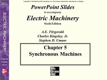 5.1 INTRODUCTION TO POLYPHASE SYNCHRONOUS MACHINES