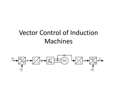 Vector Control of Induction Machines. Introduction The traditional way to control the speed of induction motors is the V/Hz-control Low dynamic performance.