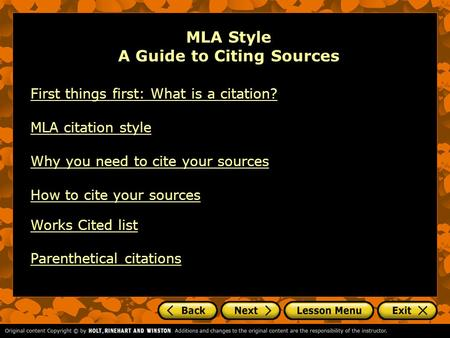 cite sources mla style These online sources are helpful in resolving citation style questions, however,  they are not the official mla style guides but rather an.