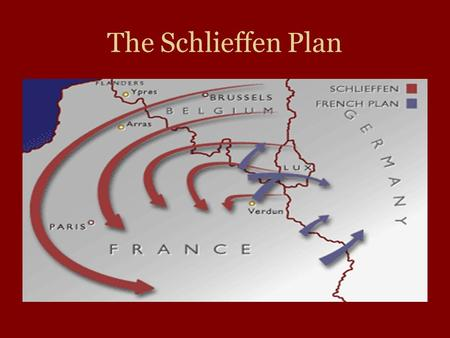 The Schlieffen Plan.