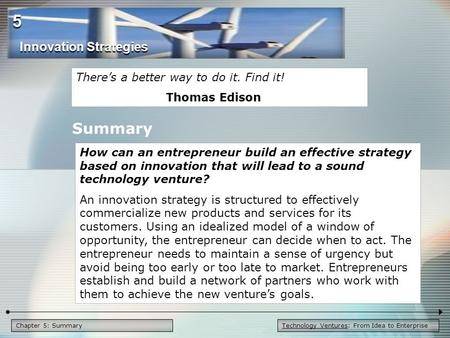 5 Summary Innovation Strategies