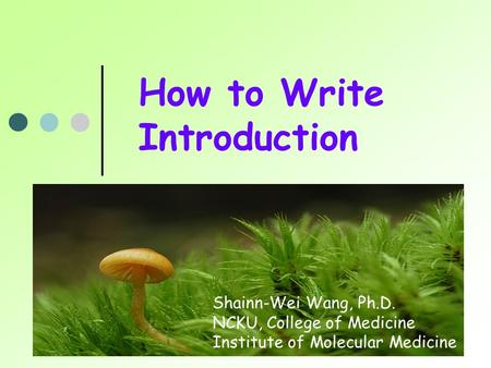 How to Write Introduction